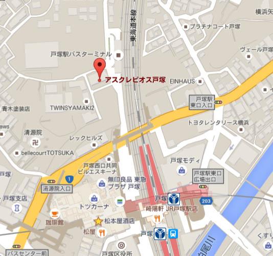 朝日生命戸塚営業所マップ